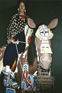 Cheyenne woman on horse